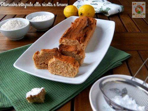 Plumcake integrale alla ricotta e limone