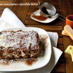 Tiramisù con mascarpone e cioccolato bianco