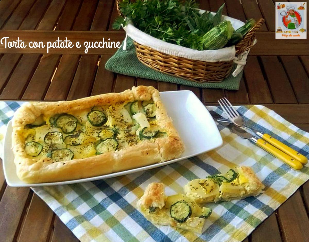 torta con patate e zucchine