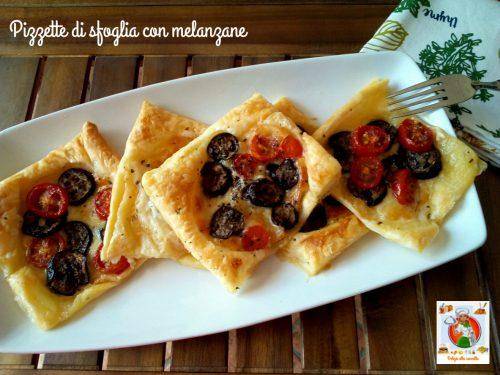 Pizzette di sfoglia con melanzane