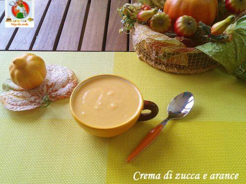 Crema di zucca e arance