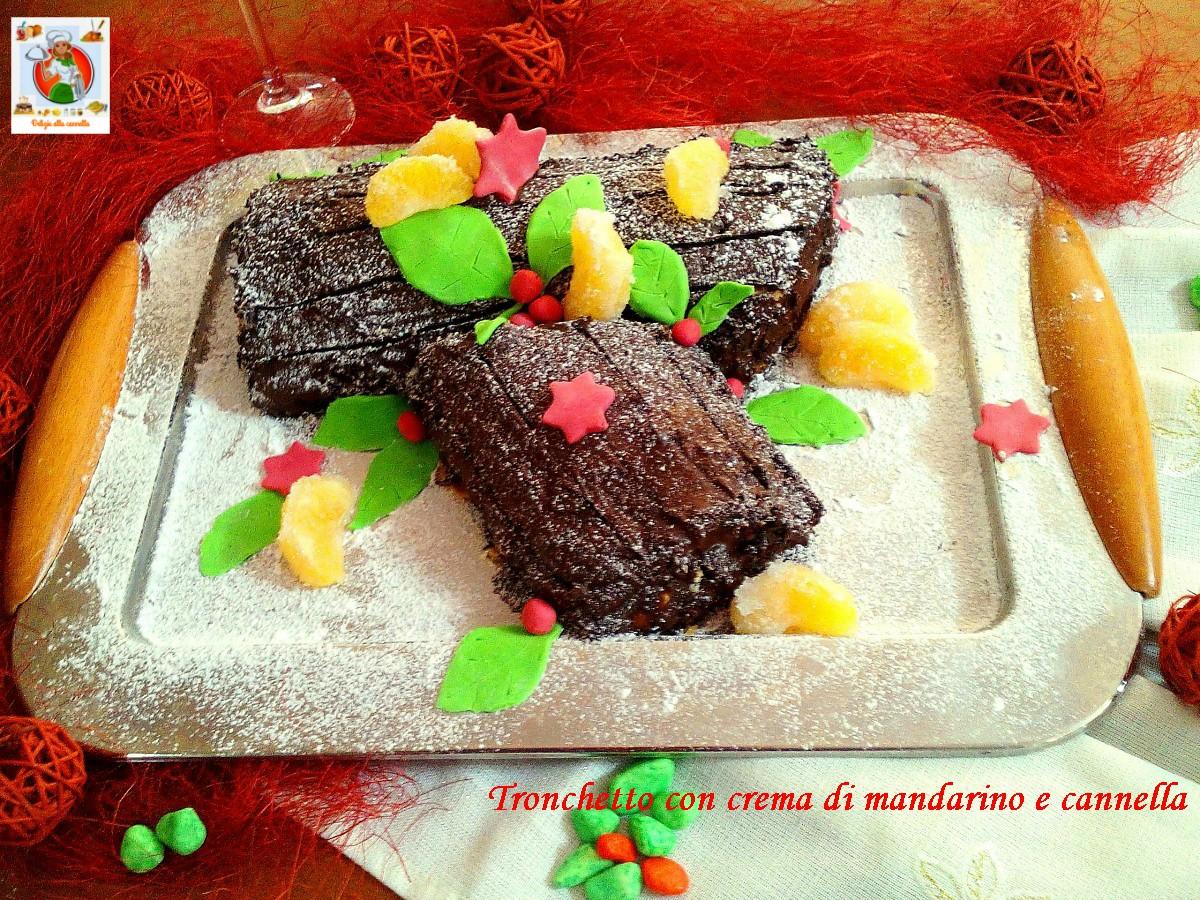 Tronchetto Di Natale Leggero.Tronchetto Con Crema Di Mandarino E Cannella