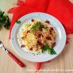 pasta con crema di cavolfiore e pomodori secchi o