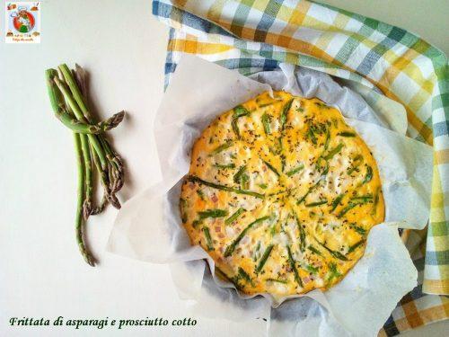 Frittata di asparagi e prosciutto cotto