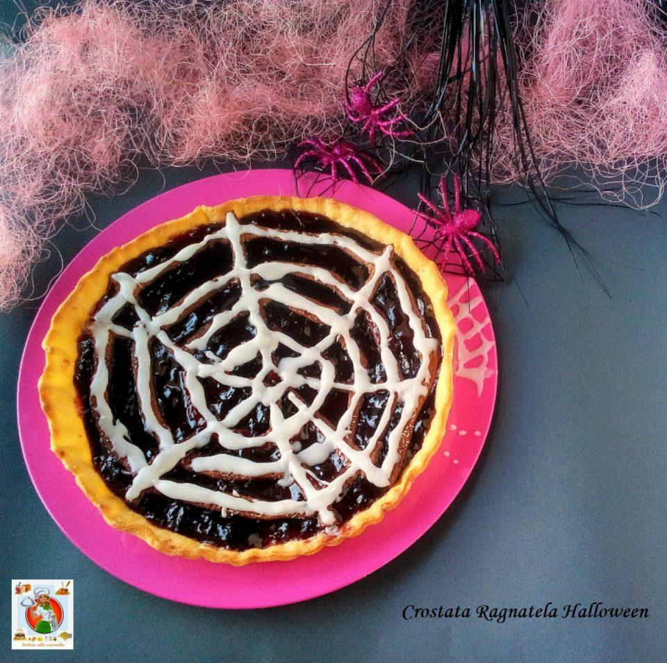 crostata ragnatela halloween o1