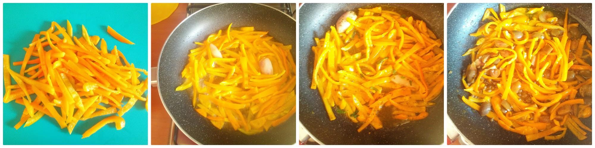 pasta con peperoni gialli olive e capperi c1