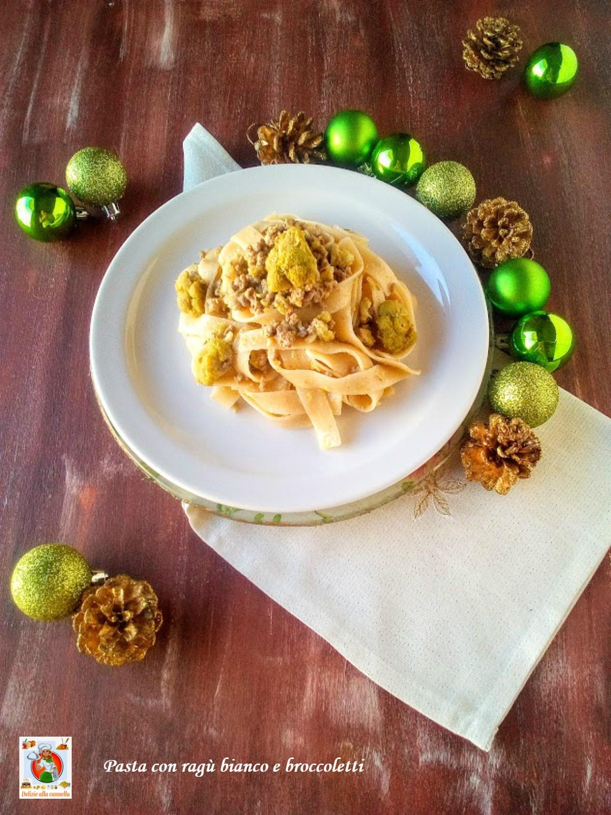 pasta con ragù bianco e broccoletti v1