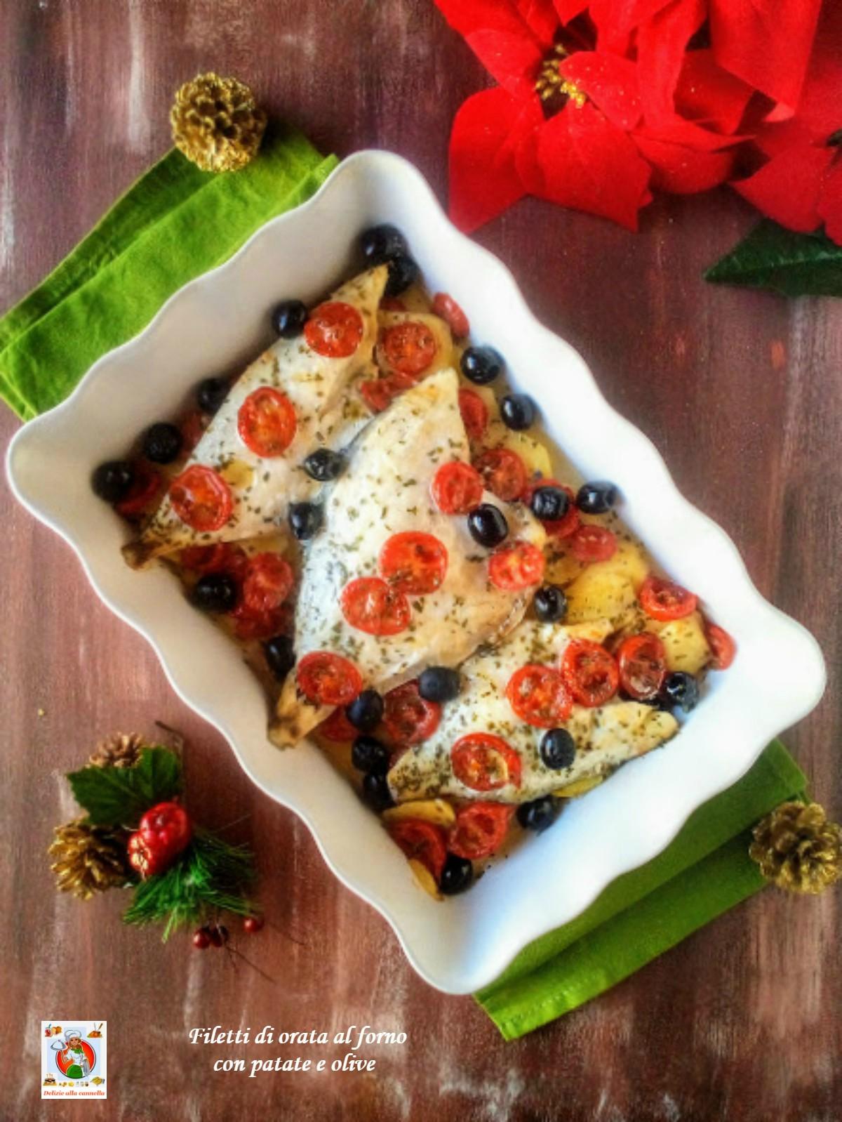 Ricetta Orata Surgelata.Filetti Di Orata Al Forno Con Patate E Olive Ricetta Secondo Di Mare