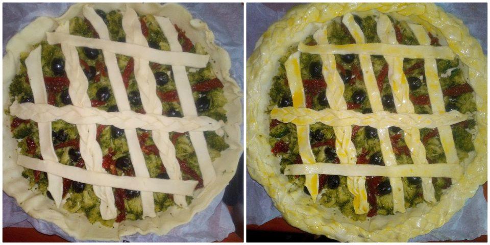crostata salata con broccoletti pomodori secchi e olive c4