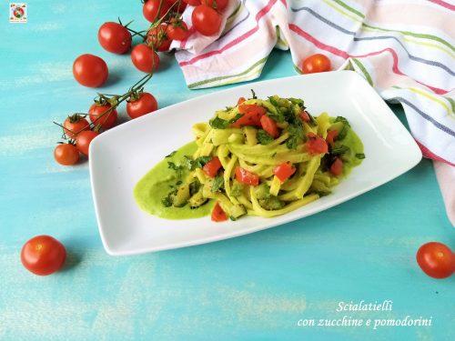 Scialatielli con zucchine e pomodorini cremosi