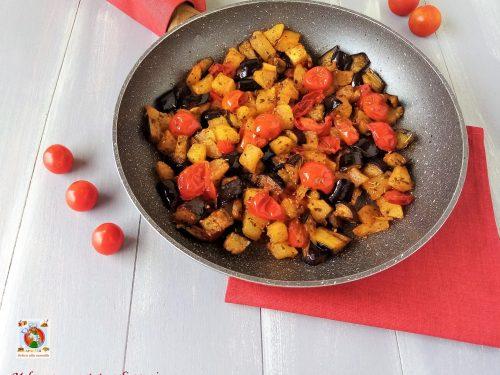 Melanzane e patate agli aromi