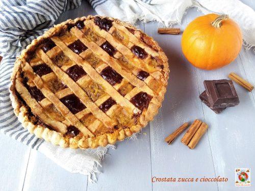 Crostata zucca cioccolato e rum