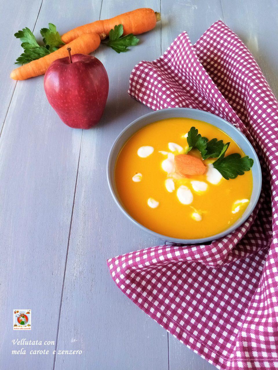 vellutata con mela carote e zenzero v1