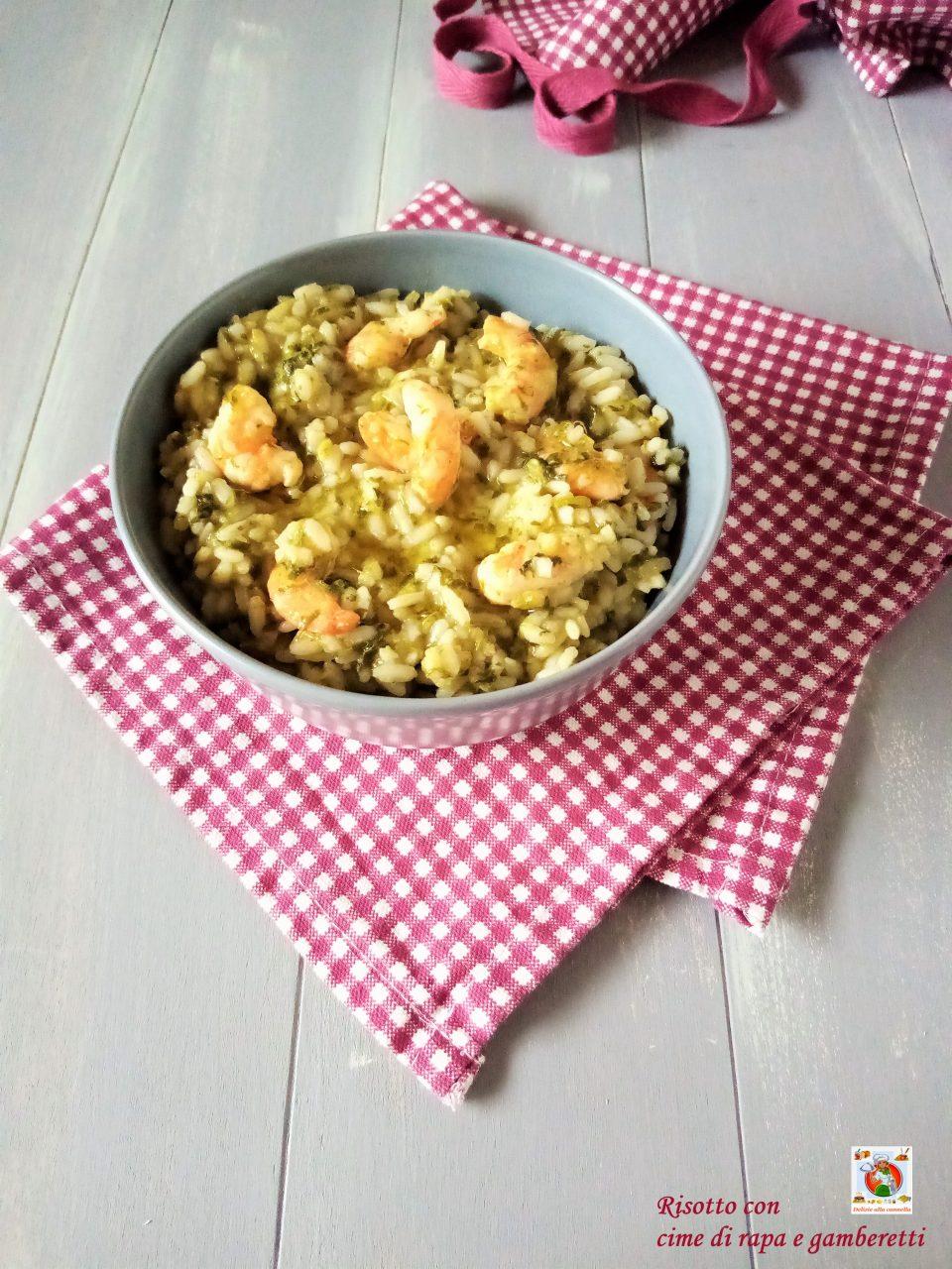 risotto con cime di rapa e gamberetti v1