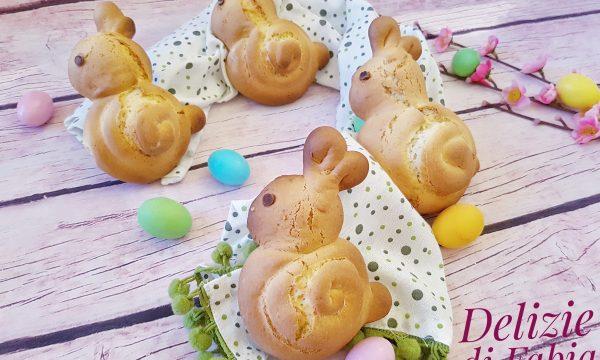 Biscotti coniglietto di Pasqua al latte e limone