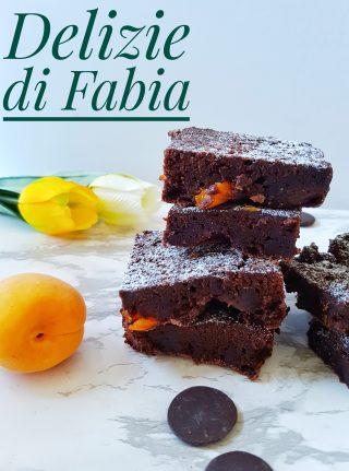 brownies al cioccolato e albicocche