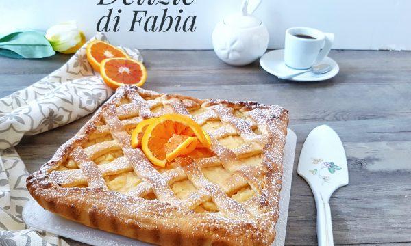 Crostata all'arancia con frolla al mascarpone