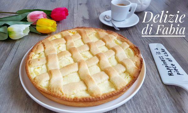 Crostata con ricotta e crema pasticcera