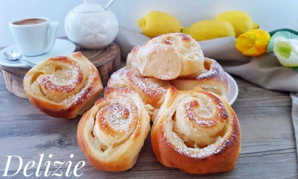 Girelle brioche con crema al limone