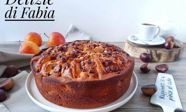 Torta mele e castagne con cioccolato