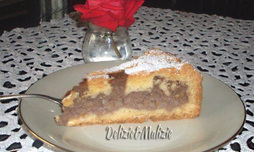 Pastiera al cioccolato e arancia caramellata