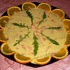 Carpaccio di salmone fresco all'arancia