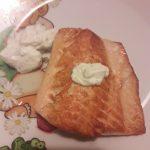 Filetto di salmone con finta maionese