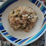 Risotto con zucchine e caprino