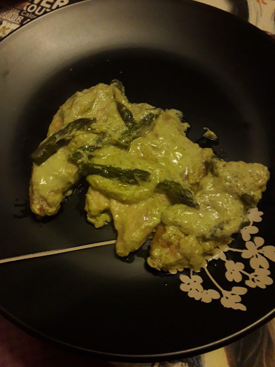 Scaloppine di pollo agli asparagi