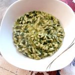 Risotto con spinaci e crescenza