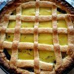 Crostata con confettura di mirtilli e crema pasticcera