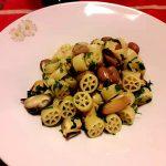 Ruote con fagioli e cozze