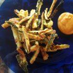 Zucchine croccanti con maionese di pomodoro