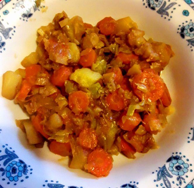 Patate, carote e porri stufati