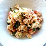 Cous cous con tonno, zucchine e pomodorini