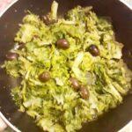 Indivia riccia ripassata con acciughe e olive