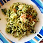 Gramigna con mazzancolle e zucchine