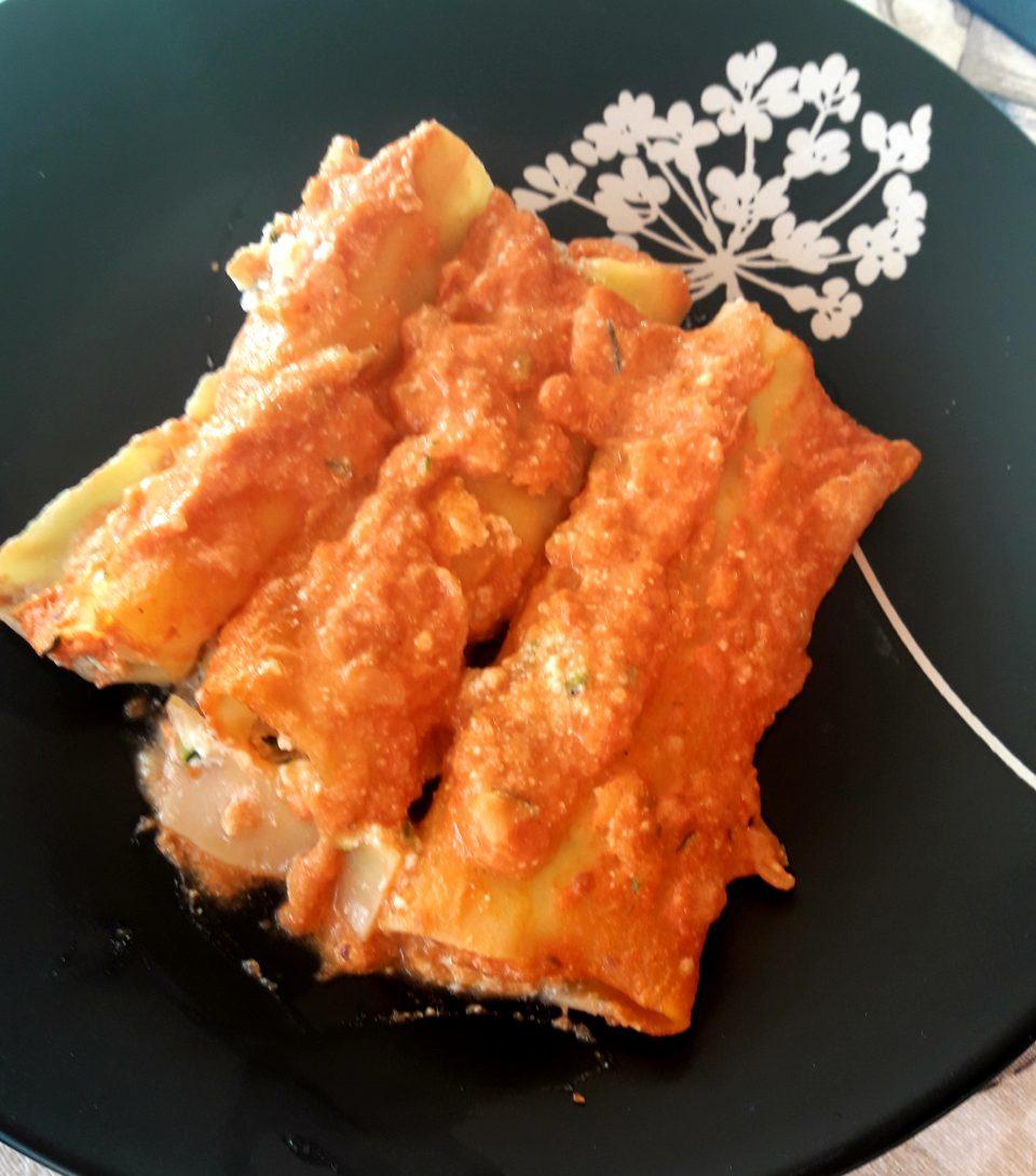 Cannelloni ripieni di zucchine e mascarpone