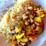 Bocconcini di pollo con verdure e cous cous
