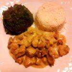 Bocconcini di pollo alle spezie tandoori con riso basmati