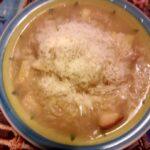 Zuppa di cipolle al brandy