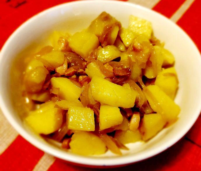 Insalata di patate con pancetta