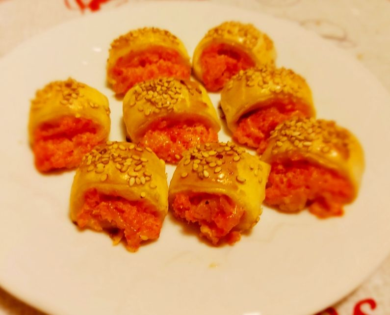 Salatini con peperoni e pancetta