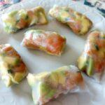 Springs rolls con salmone e avocado