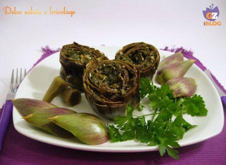 Carciofi alla contadina (cacocciuli 'a viddaniedda), secondo piatto, ricetta regionale