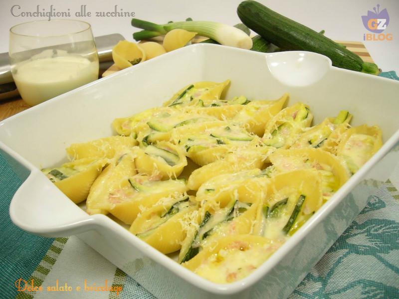 conchiglioni alle zucchine