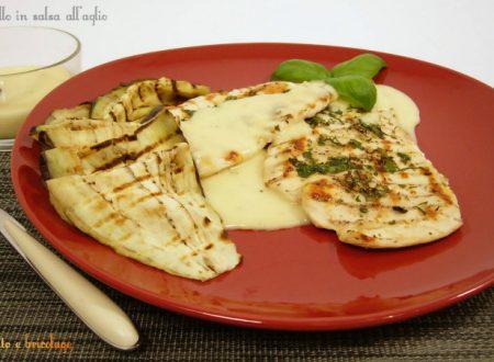 Petto di pollo in salsa allo aglio, secondo piatto