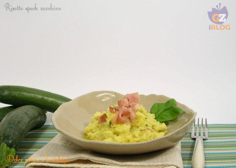 risotto speck zucchine
