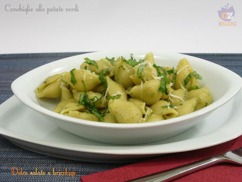 conchiglie alle patate verdi