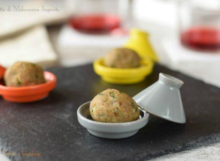 Polpette di melanzane saporite finger food